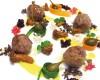 Praline di salamella trevigiana laccate al miele di pino mugo con finferli del Cadore, fave di cacao, salsa alla patata di Rotzo e sferificazione con vino rosso e Prosecco